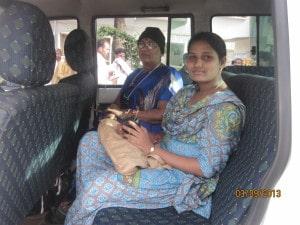Cab drive in Tirumala
