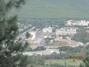 Balaji view from Srivari padalu